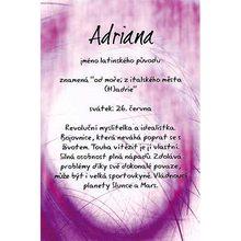 Kouzlo tvého jména Blahopřání Kouzlo tvého jména Adriana