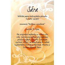 Kouzlo tvého jména Blahopřání Kouzlo tvého jména Sára