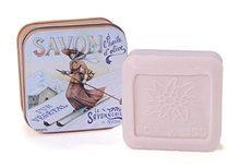 La savonnerie de Nyons Mýdlo v plechové krabičce Lyžařka 100g