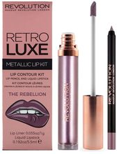 Makeup Revolution London Makeup Revolution London Retro Luxe Metallic Lip Kit - The Rebellion