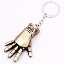 Marvel Přívěsek na klíče Iron Man 3D ruka mosazná