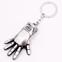 Marvel Přívěsek na klíče Iron Man 3D ruka střibrná