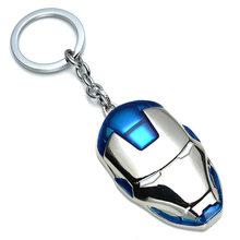 Marvel Přívěsek na klíče Iron Man Maska modrá