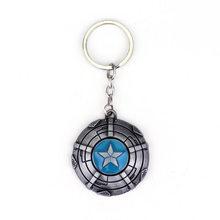 Marvel Přívěsek na klíče - štít Kapitan Amerika silver točící