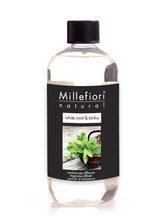 Millefiori Milano Natural Náplň pro difuzér 250ml/White Mint & Tonka