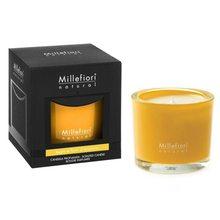 Millefiori Milano Vonná svíčka Millefiori Milano Dřevo a pomerančové květy, Natural, 180 g