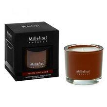 Millefiori Milano Vonná svíčka Millefiori Milano Vanilka a dřevo, Natural, 180 g