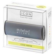 Millefiori Milano Vůně do auta Millefiori Milano Icon, Classic/Chladná voda, tmavě šedá