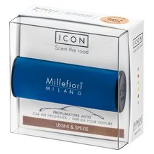 Millefiori Milano Vůně do auta Millefiori Milano Icon, Classic/Dřevo a koření, modrá