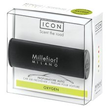 Millefiori Milano Vůně do auta Millefiori Milano Icon, Classic/Kyslík, černá