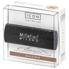 Millefiori Milano Vůně do auta Millefiori Milano Icon, Urban/Dřevo a koření, černá