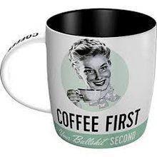 Nostalgic Art Hrnek - Coffee First, Bullshit Second