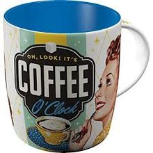 Nostalgic Art Hrnek-Coffee O´Clock