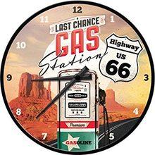 Nostalgic Art Nástěnné hodiny-Last Chance-Gas Station