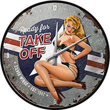 Nostalgic Art Nástěnné hodiny-Ready For Take Off