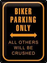 Nostalgic Art Plechová cedule Biker Parking Only