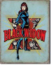 Nostalgic Art Plechová cedule - Black Widow (Retro)
