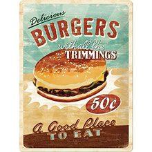 Nostalgic Art Plechová cedule - Burgers