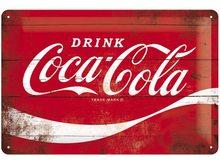Nostalgic Art Plechová cedule – Coca Cola Červené Logo