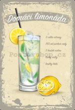 Nostalgic Art Plechová cedule: Domácí limonáda - 20x30 cm