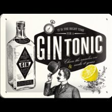 Nostalgic Art Plechová cedule - Gin Tonic