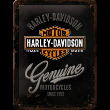 Nostalgic Art Plechová cedule - Harley Davidson Genuine Logo