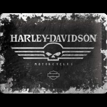 Nostalgic Art Plechová cedule - Harley - Davidson Skull