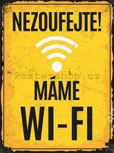Nostalgic Art Plechová cedule - Máme Wi-Fi