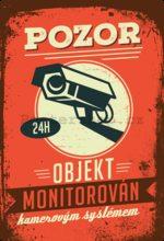 Nostalgic Art Plechová cedule: Pozor, objekt monitorován - 20x30 cm