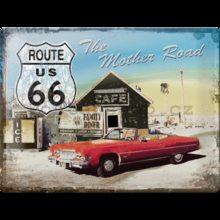 Nostalgic Art Plechová cedule - Route 66 /Red car/
