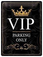 Nostalgic Art Plechová cedule – VIP Parking Only