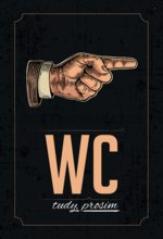 Nostalgic Art Plechová cedule: WC - 20x30 cm