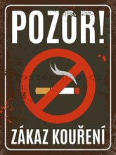 Nostalgic Art Plechová cedule - Zákaz kouření 30x40cm
