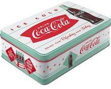 Nostalgic Art Plechová dóza-Coca Cola-White