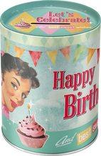 Nostalgic Art Plechová kasička - Happy Birthday