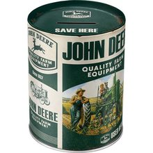 Nostalgic Art Plechová kasička-John Deere-Quality Farm Equipment