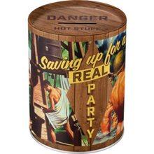 Nostalgic Art Plechová kasička Saving Up For a Real Party
