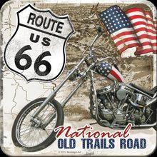 Nostalgic Art Podtácek Route 66 National Old trails road