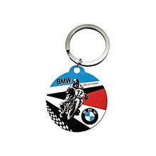 Nostalgic Art Retro klíčenka kulatá-BMW-Motorbike