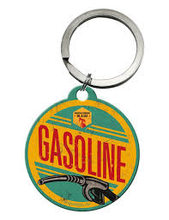 Nostalgic Art Retro klíčenka kulatá-Gasoline