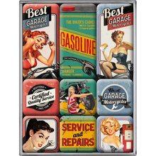 Nostalgic Art Sada magnetů Best Garage