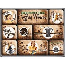 Nostalgic Art Sada magnetů - Coffee House