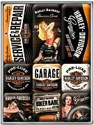 Nostalgic Art Sada magnetů - Harley Davidson /různé/