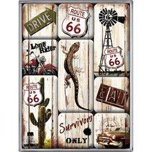 Nostalgic Art Sada magnetů - Highway 66 Survivor set