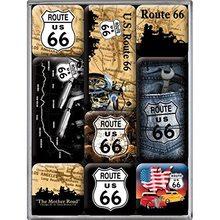 Nostalgic Art Sada magnetů - Route 66