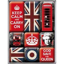 Nostalgic Art Sada magnetů United Kingdom