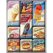 Nostalgic Art Sada magnetů USA American Diner