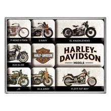 Nostalgic Art Sada magnetů Vintage Retro Harley Davidson Model Chart Set