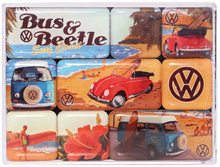 Nostalgic Art Sada magnetů - VW Beach