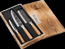 FORGED Sada 3 kuchyňských nožů Olive